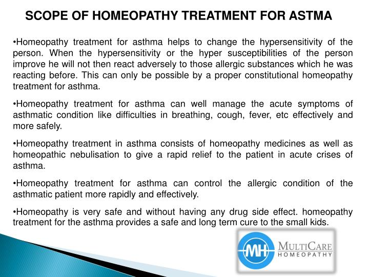SCOPE OF HOMEOPATHY TREATMENT FOR ASTMA