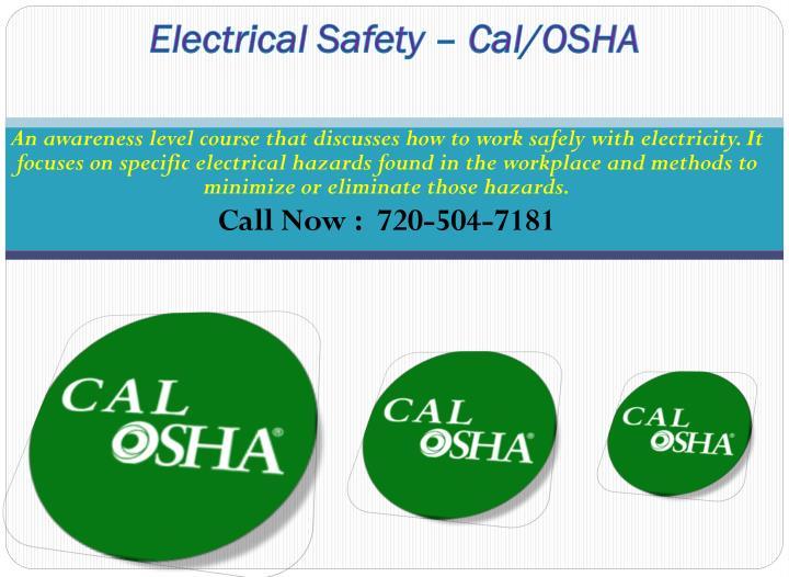 Electrical Safety – Cal/OSHA