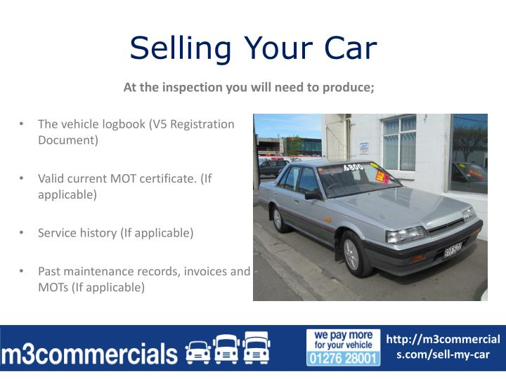 Selling your car1
