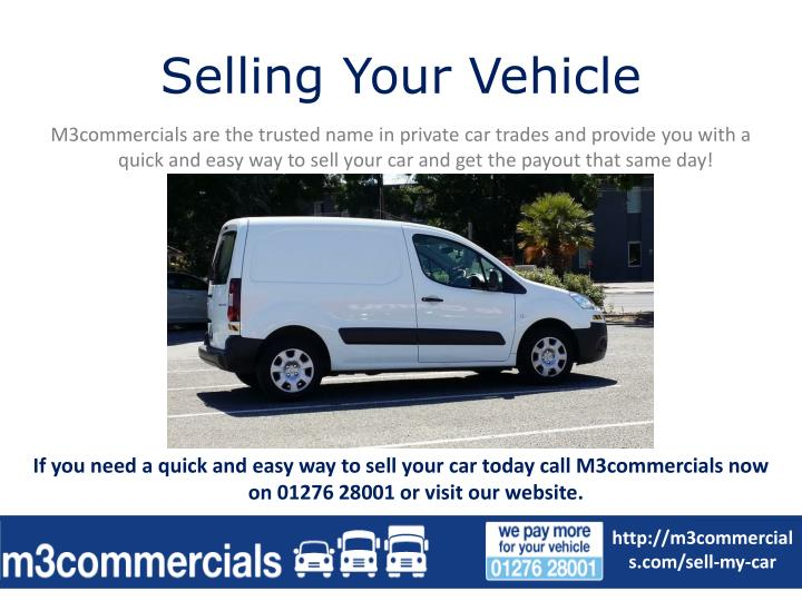Selling your vehicle