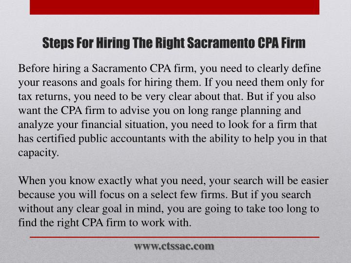 Steps for hiring the right sacramento cpa firm2