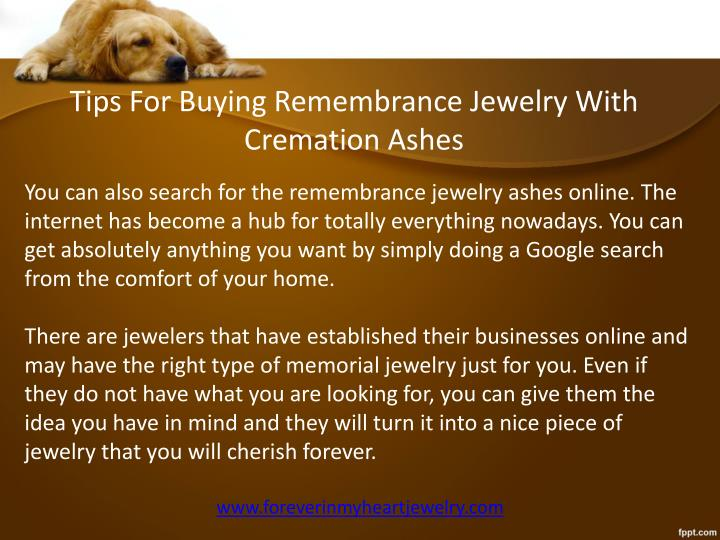 Tips For Buying Remembrance Jewelry With Cremation Ashes