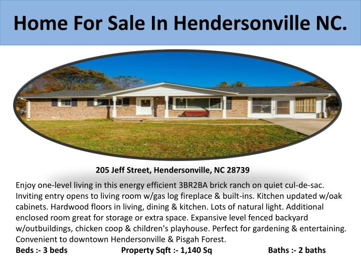 Home for sale in hendersonville nc