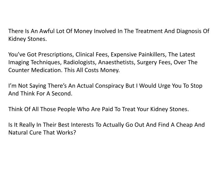 There Is An Awful Lot Of Money Involved In The Treatment And Diagnosis Of