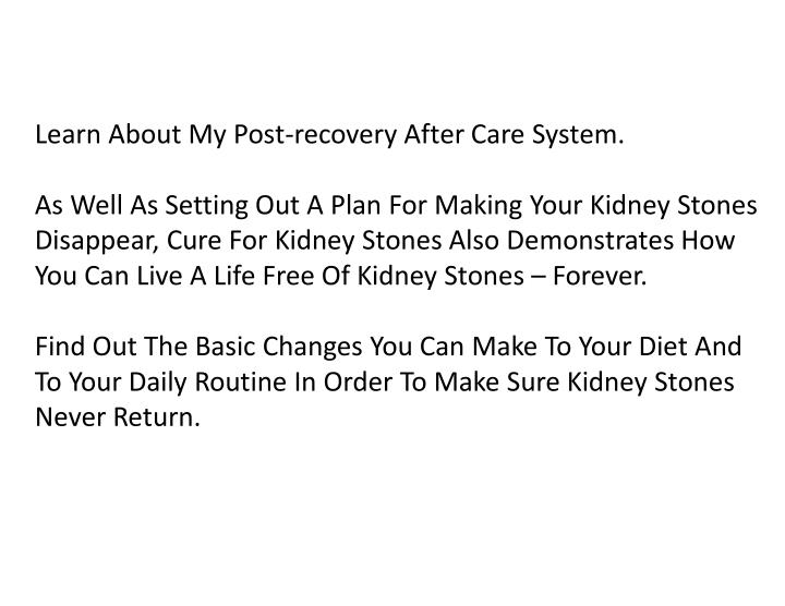 Learn About My Post-recovery After Care System.