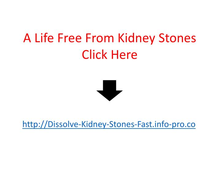 A Life Free From Kidney Stones