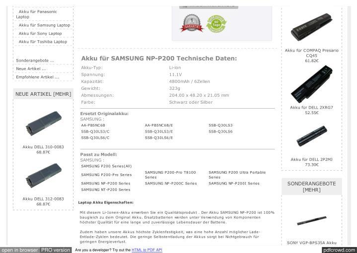 Akku für Panasonic
