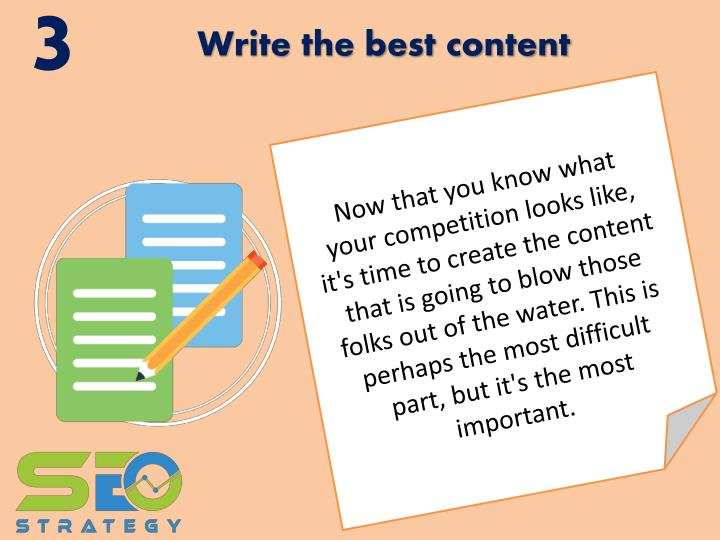 Write the best content