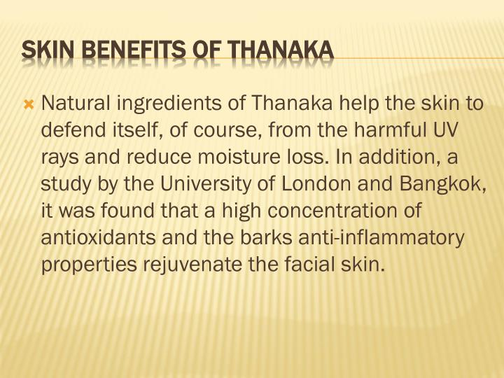 Skin benefits of thanaka