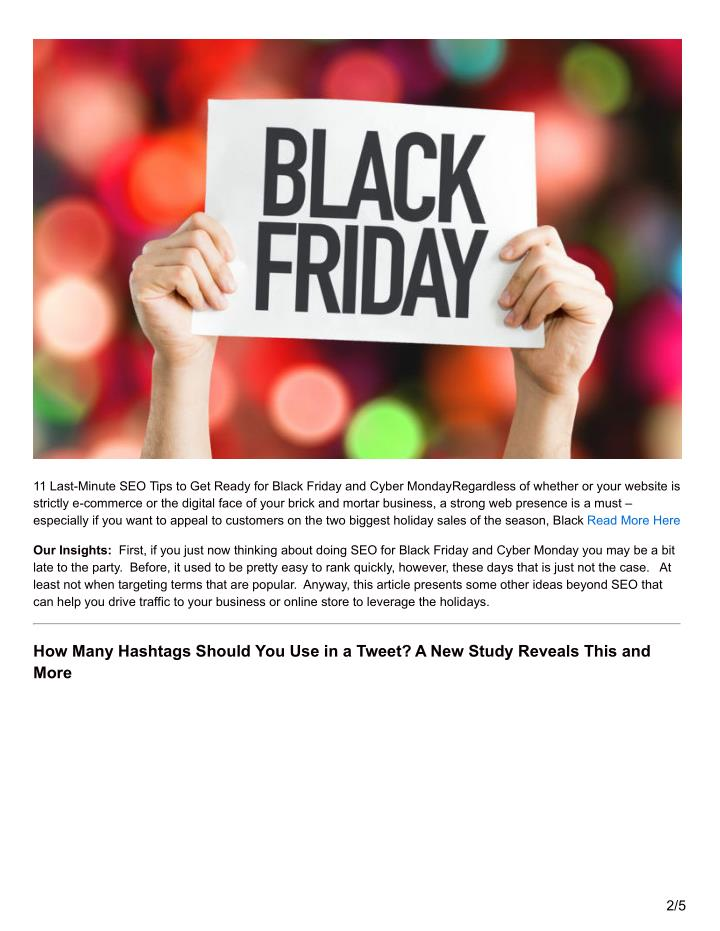 11 Last-Minute SEO Tips to Get Ready for Black Friday and Cyber MondayRegardless of whether or your ...