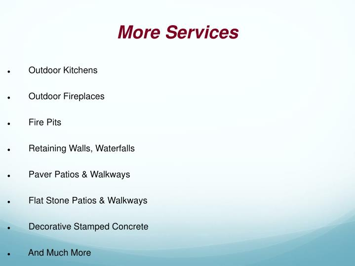 More Services