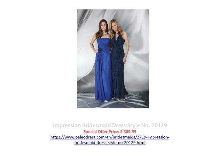 Impression Bridesmaid Dress Style No. 20129