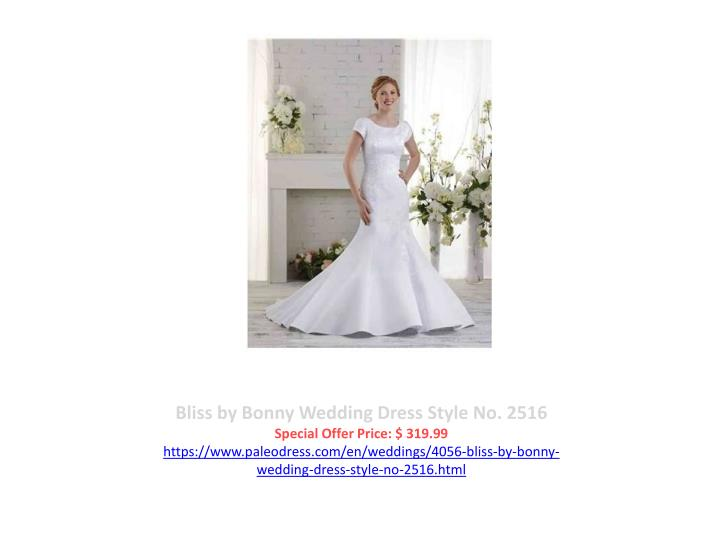 Bliss by Bonny Wedding Dress Style No. 2516