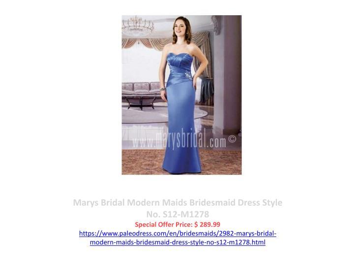 Marys Bridal Modern Maids Bridesmaid Dress Style No. S12-M1278