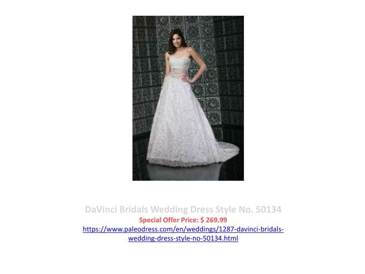 DaVinci Bridals Wedding Dress Style No. 50134
