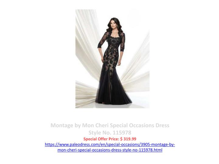 Montage by Mon Cheri Special Occasions Dress Style No. 115978