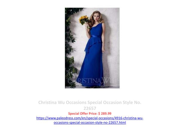 Christina Wu Occasions Special Occasion Style No. 22657