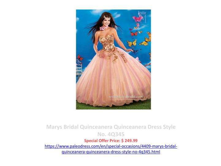Marys Bridal Quinceanera Quinceanera Dress Style No. 4Q345