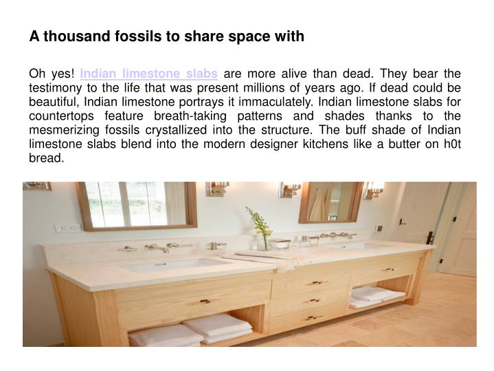 A thousand fossils to share space with