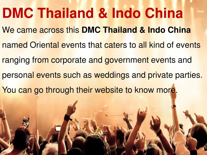 DMC Thailand & Indo China