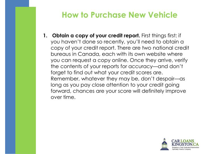 How to Purchase New Vehicle