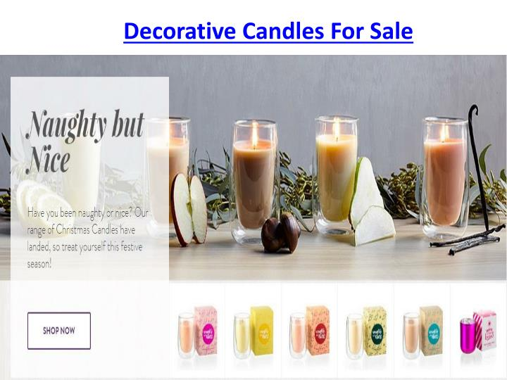 Decorative Candles For Sale