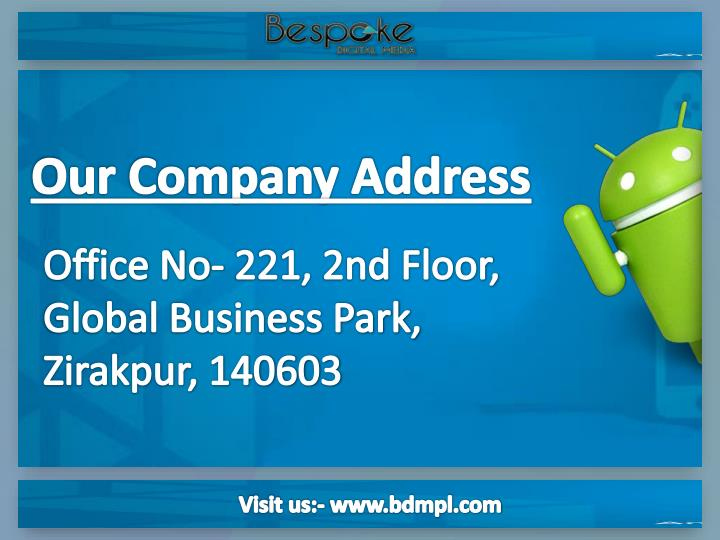 Our Company Address