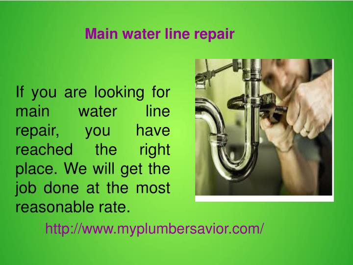 Main water line repair