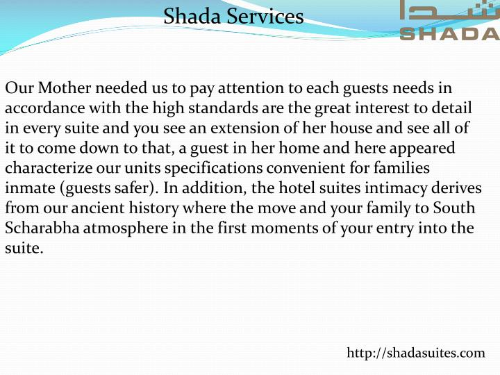 Shada Services