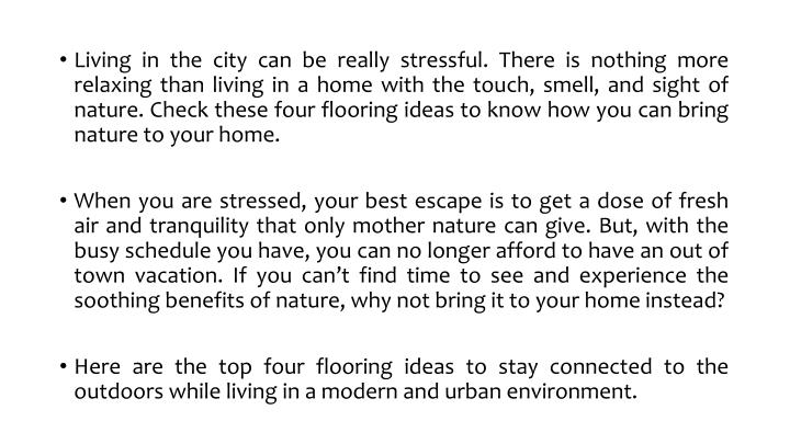 Living in the city can be really stressful. There is nothing more relaxing than living in a home wit...