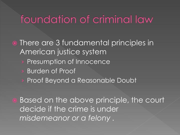 foundation of criminal law