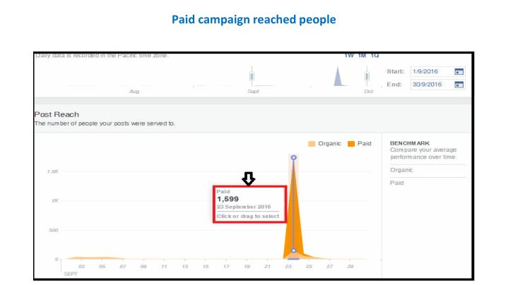 Paid campaign reached people