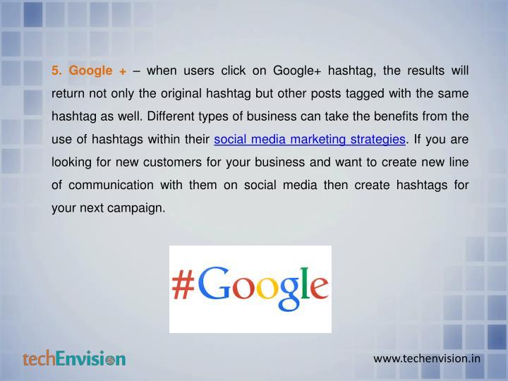 5. Google +