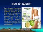 burn fat quicker