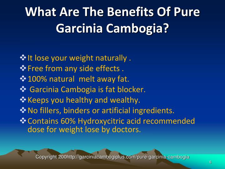 What Are The Benefits Of Pure Garcinia Cambogia?
