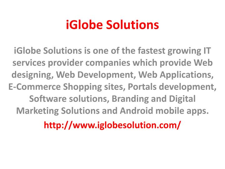 Iglobe solutions