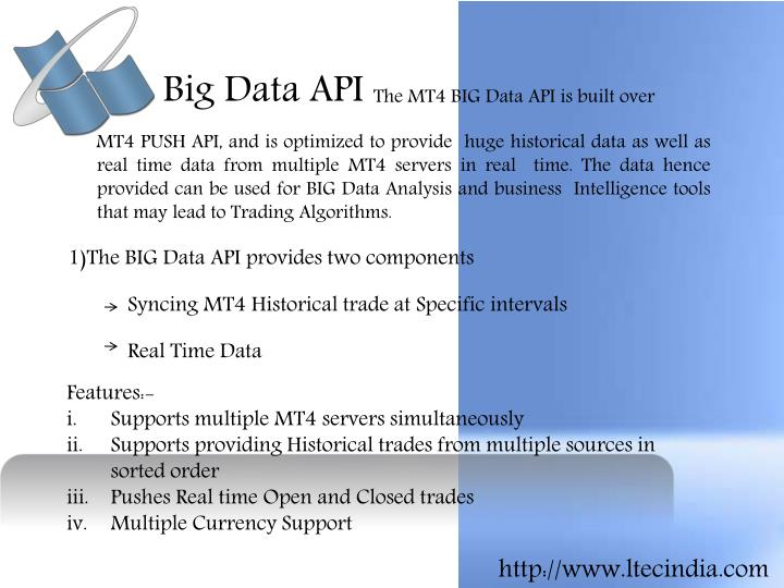 Big Data API