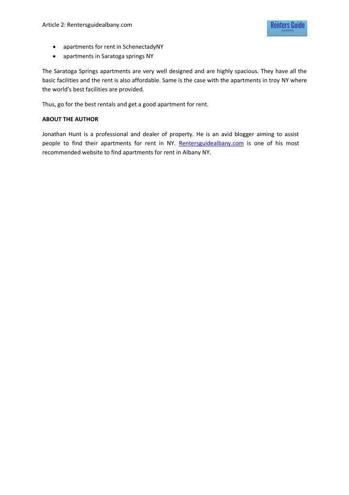 Article 2: Rentersguidealbany.com
