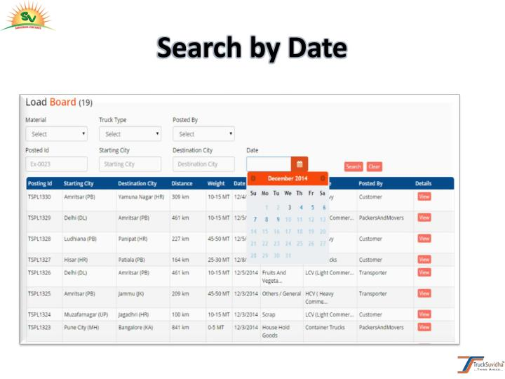 Search by Date