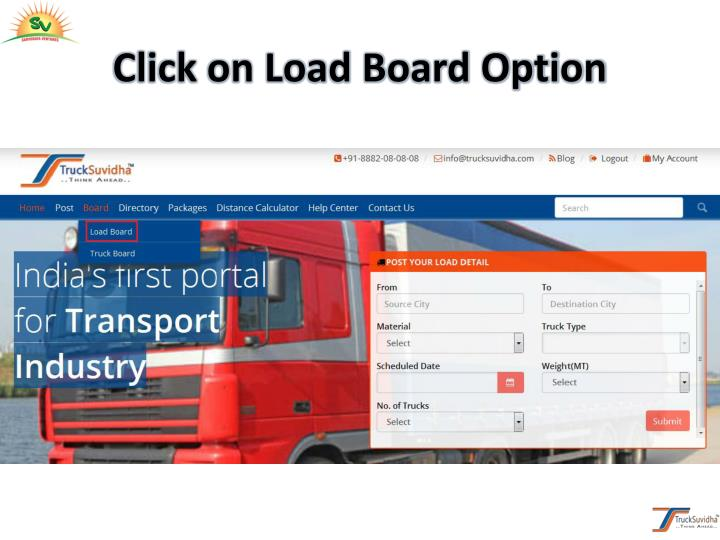 Click on Load Board Option