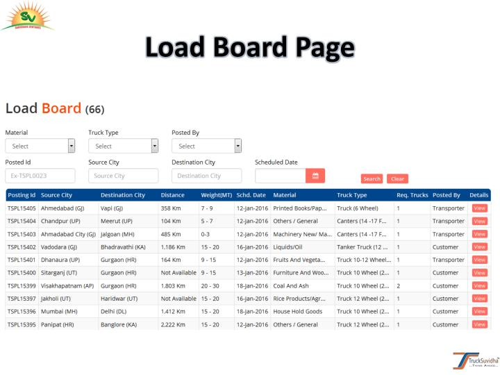 Load Board Page