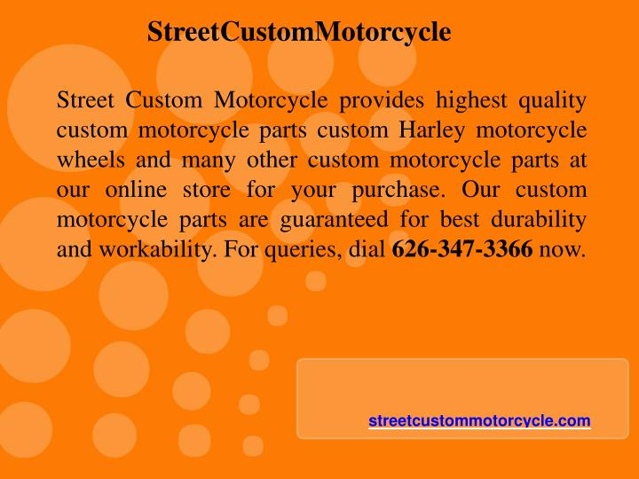 StreetCustomMotorcycle