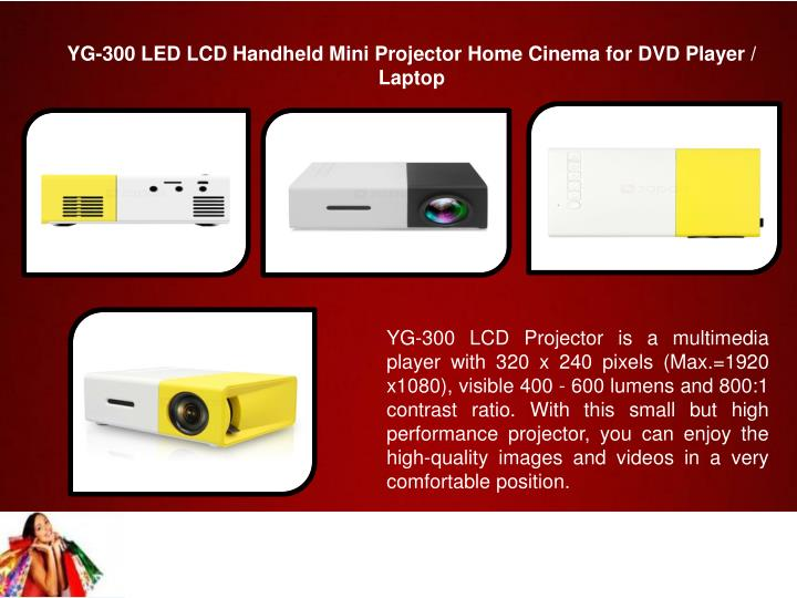 YG-300 LED LCD Handheld Mini Projector Home Cinema for DVD Player / Laptop