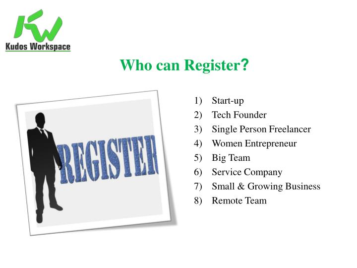 Who can Register