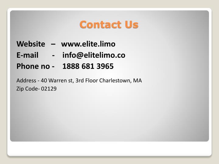 Website   –   www.elite.limo