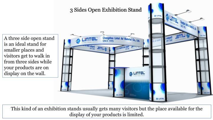 3 Sides Open Exhibition Stand