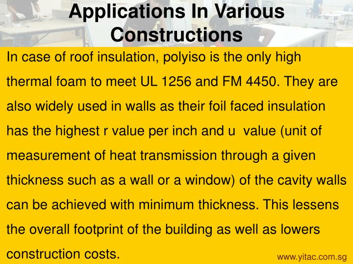 Applications In Various Constructions