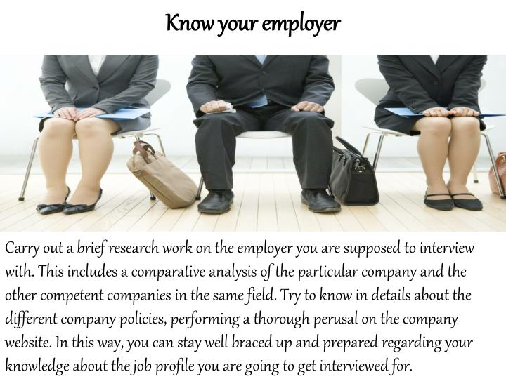 Know your employer