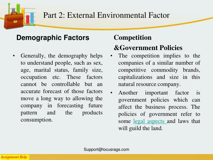 Part 2: External Environmental Factor