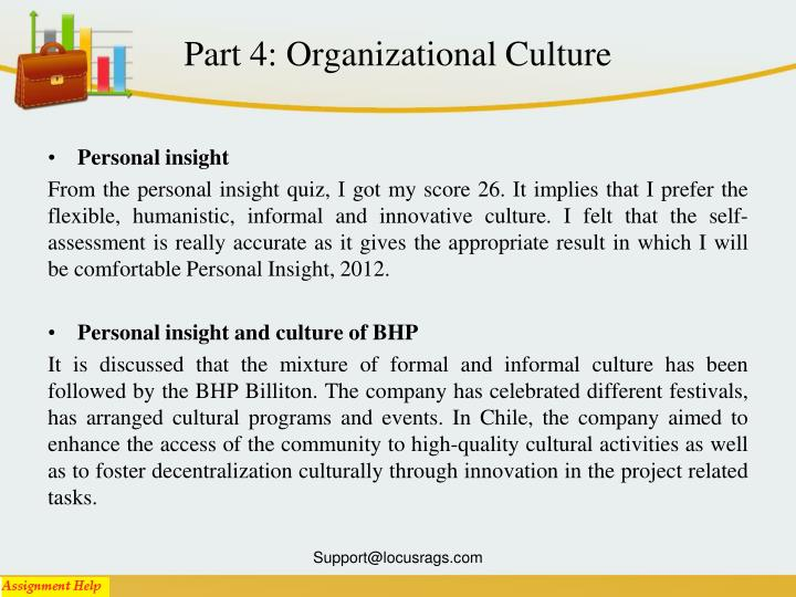 Part 4: Organizational Culture